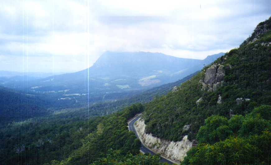 Looking down from Mount Roland Tassie